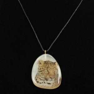 Кулон «Леопард», 4?4 см, селенит   4521220