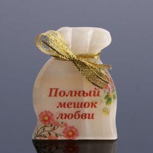 """Сувенир """"Полный мешок любви"""", селенит, с магнитом  4991491"""