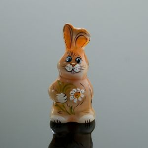 Сувенир «Заяц с цветком», 3,5?7,5 см, селенит 4231524
