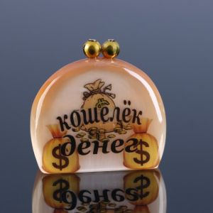 Сувенир «Кошелек денег», 4 х4,5 см селенит 4883668