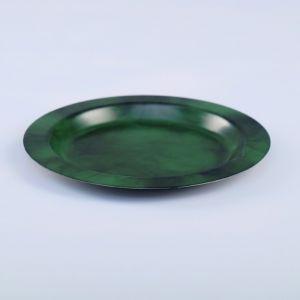 Поднос круглый, заготовка под роспись, d=11,5 см, зелёный   4443751