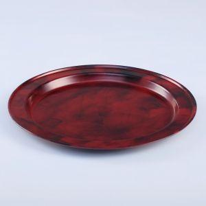 Поднос круглый, заготовка под роспись, d=19 см, бордовый   4443748