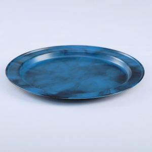 Поднос круглый, заготовка под роспись, d=19 см, синий   4443749