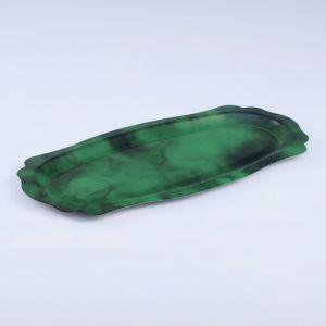 Поднос фигурный, заготовка под роспись, 30?15 см, зелёный   4443745