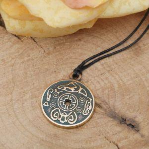"""Амулет из ювелирной бронзы """"Монета счастья"""" приносящая удачу в жизни, дружбе и любви"""