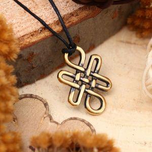 """Амулет из ювелирной бронзы """"Узел долголетия"""" (символ энергетического равновесия)"""