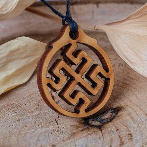 """Амулет деревянный """"Боговник/Родовик"""" (сила Богов, помогает обретать истинные духовные знания), длина регулируется"""