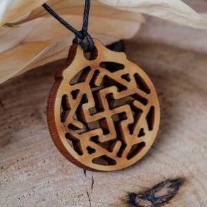 """Амулет деревянный """"Валькирия"""" (мудрость, честь, справедливость), длина регулируется"""