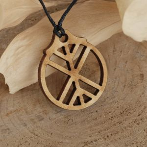 """Амулет деревянный """"Древо жизни"""" (мощная защита), длина регулируется"""