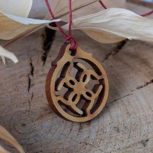 """Амулет деревянный """"Свадебник"""" (охраняет семейное счастье и благополучие), длина регулируется"""