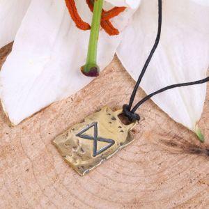 Руна из ювелирной бронзы Дагаз (удача и везение)