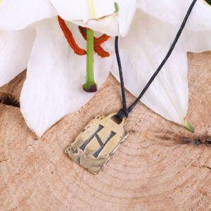 Руна из ювелирной бронзы Хагалаз (помогает выбраться из сложной ситуации)