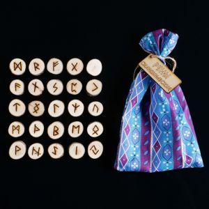 Набор скандинавских рун из ивы, 25 штук 1114157