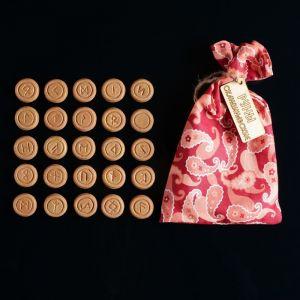 Набор скандинавских рун из керамики, 25 штук 1114158