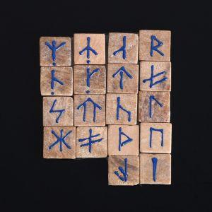 Руны гадальные, славянские, мрамор 3092166