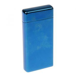Зажигалка в коробке электронная, темно-синяя, 10х3х10 см 2598177