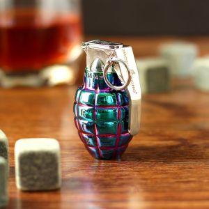 """Зажигалка электронная """"Граната"""", USB, спираль, градиент, синяя, 3х4х6 см 3598545"""