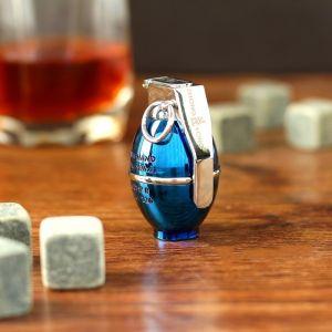 """Зажигалка электронная """"Граната"""", USB, спираль, синяя, 3х4х6 см 3598544"""