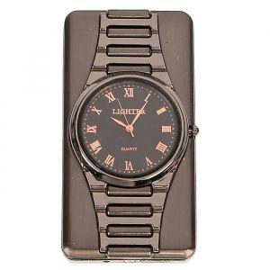 """Зажигалка электронная """"Наручные часы"""" в подарочной коробке, USB, спираль, 4х6 см 3018082"""
