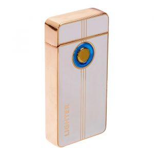 "Зажигалка электронная ""Футуризм"", дуговая, USB, белая, 3.5х10х10 см 3283694"