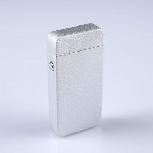 Зажигалка электронная в подарочной коробке, USB, дуговая, серебристый металлик, 3.5х7 см 3018067
