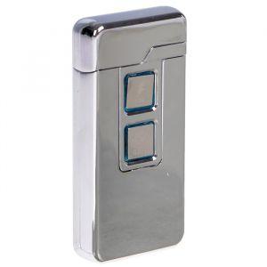 Зажигалка электронная, USB, спираль, 2 функции, цвет стали, 3.5х10х10 см 3283692