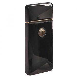 Зажигалка электронная, USB, спираль, чёрная с выпуклым рисунком, 7.5х12 см 3283683