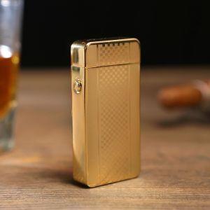 Зажигалка электронная, дуговая, USB, золотая, 7.5х12 см 3283678