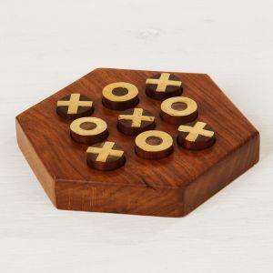 """Игра """"Крестики-нолики"""" дерево 12х13,5х2,5 см 2358233"""