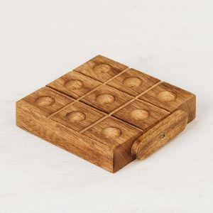 """Игра дерево """"Крестики-нолики"""" (цветные шарики) 13х14х4 см 2358237"""