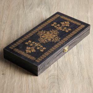 "Нарды ""Черное золото"" (доска дерево 29х29 см) 3621659"