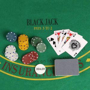 Покер, набор для игры (карты 2 колоды микс, фишки 120 шт,сукно 40х60 см) 440634