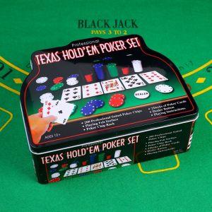 Покер, набор для игры (карты 2 колоды микс, фишки с/номин. 200 шт,сукно 60х90 см) 452702