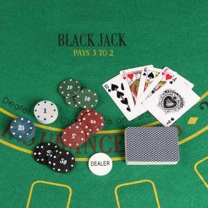 Покер, набор для игры (карты 54 шт, фишки 120 шт с/номин.) 15х15 см, микс  912897