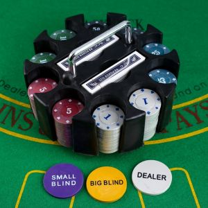 Покер, набор для игры, в карусели (карты 2 колоды, фишки 200 шт) 278720