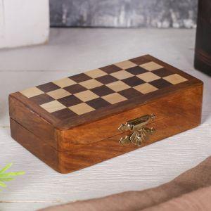 Магнитные шахматы дерево 4х6,5х13 см 1044265
