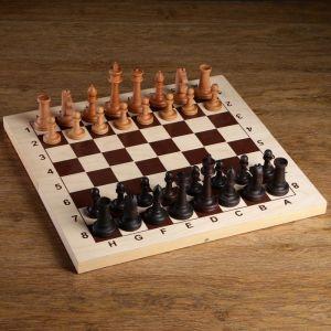 """Шахматные фигуры """"Российские"""", утяжеленные (король h=10.5 см, пешка h=5.2 см, бук)   4438238"""
