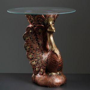 """Подставка - стол """"Жар-птица"""" медь ПОЛИСТОУН   4233106"""