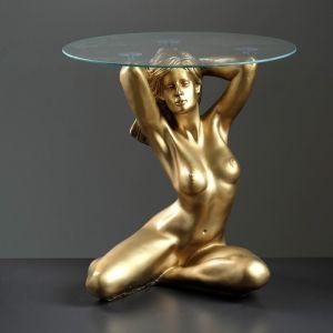 """Подставка - стол """"Пробуждение"""" бронза ПОЛИСТОУН, 39?39,5?52 см  4233104"""