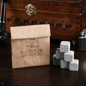 """Камни для виски """"Главе семьи"""", в крафт пакете, 6 шт. 4870299"""