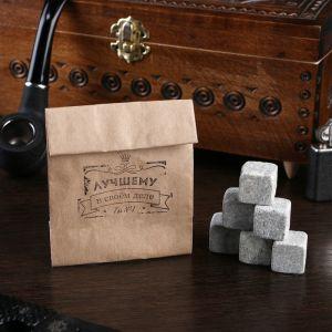"""Камни для виски """"Лучшему"""", в крафт пакете, 6 шт. 4870301"""