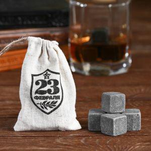 """Камни для виски """"23 февраля"""", 4 шт."""