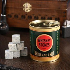 """Набор камней для виски """"Drink and chill"""", в консервной банке, 9 шт. 4832945"""
