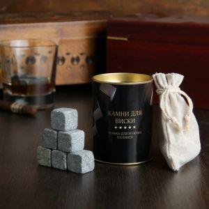 """Набор камней для виски """"Whiskey stones"""", 9 шт в тубусе 4074824"""