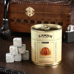 """Набор камней для виски """"Верблюд"""", в консервной банке, 9 шт. 4832944"""