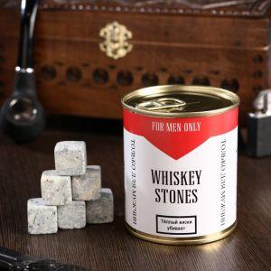 """Набор камней для виски """"Ковбой"""", в консервной банке, 9 шт. 4832943"""