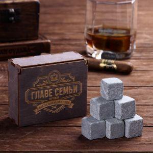 Камни для виски «Главе семьи», в деревянной упаковке, 9 шт.