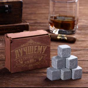 Камни для виски «Лучшему в своём деле», в деревянной упаковке, 9 шт.