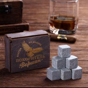 Камни для виски «Покоритель вершин», в деревянной упаковке, 9 шт.
