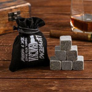 Камни для виски «Ценителю виски», в холщовом мешке, 6 шт.